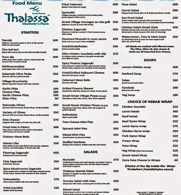 Цены в Гоа на еду в кафе и продукты